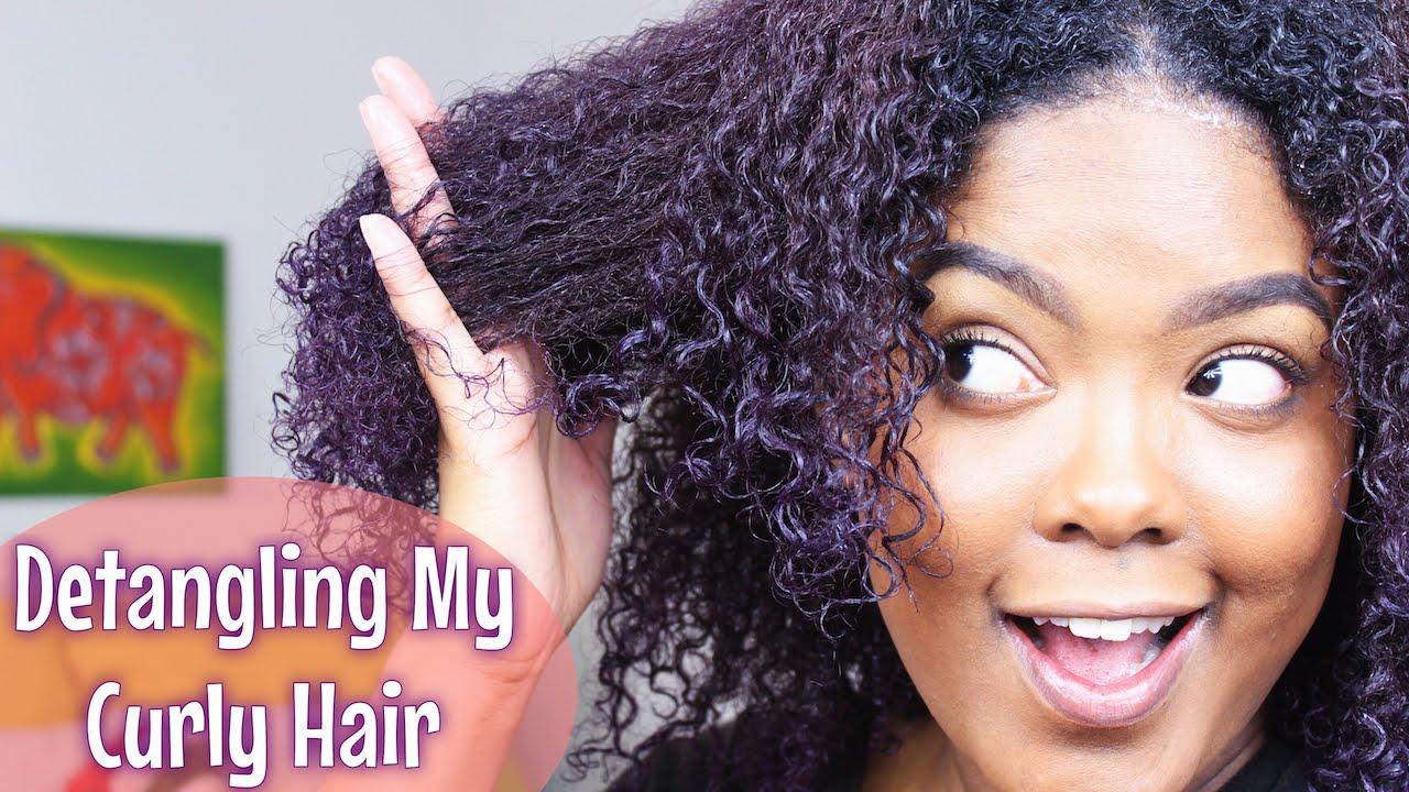 Hair Detangling : How To Detangling Natural Hair - YouTube
