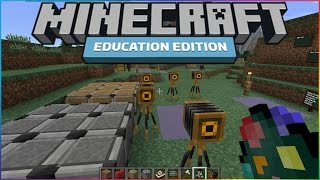 Minecraft Education Edition Gameplay - Exclusive Features Block+ Working Cameras!
