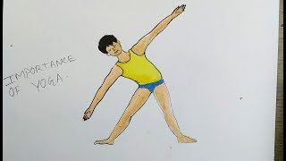 yoga drawing pastel easy oil importance colour