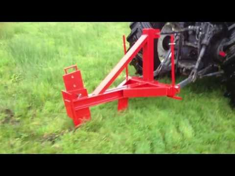 Trenchless Technology Vibrating Moleplough Laying 2 X
