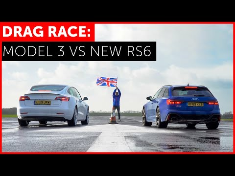 The Tesla Model 3 Performance Doesn't Stand a Chance Against the Audi RS 6 Avant