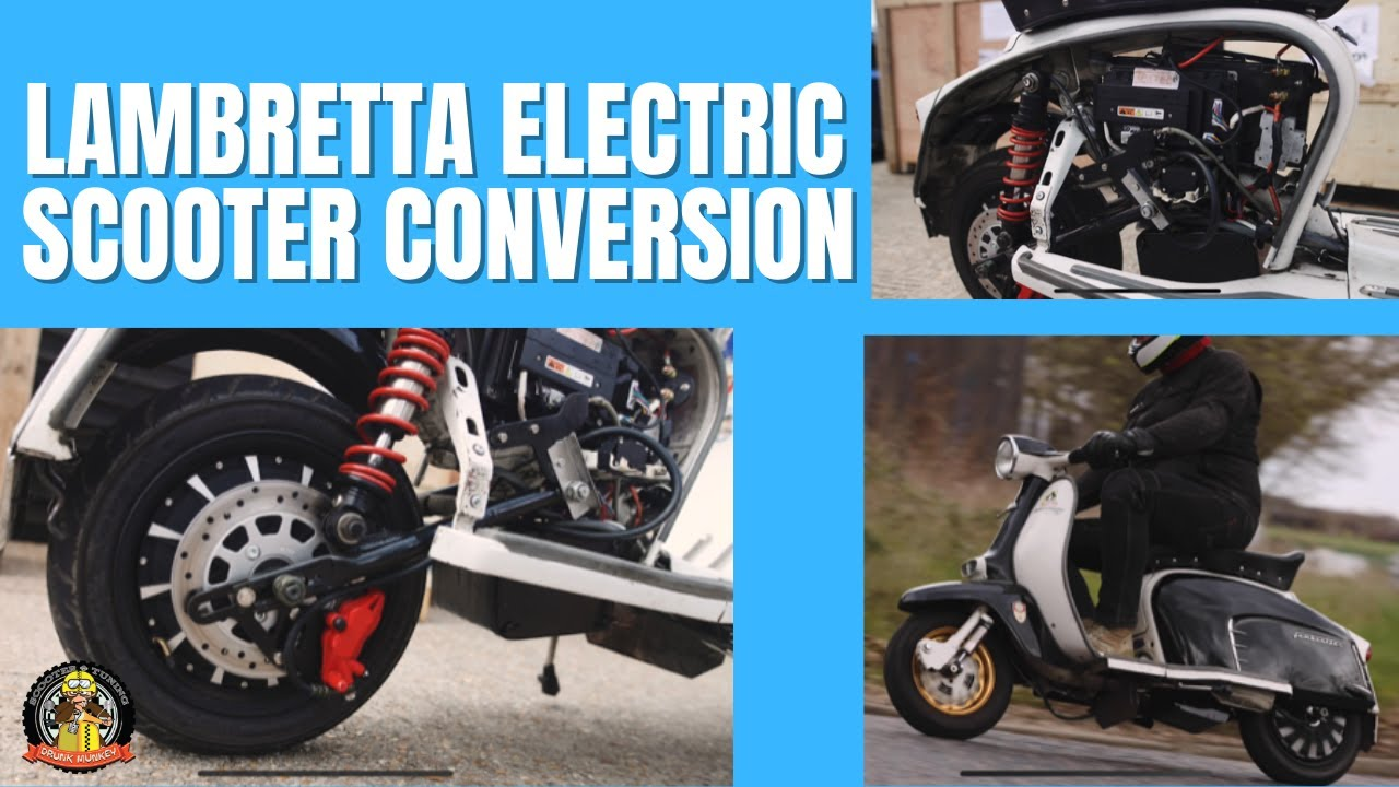 Lambretta Electric Scooter Conversion with 70-mile range SSC Plug & Play Classic Scooter Kit eBretta