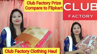 Club Factory Haul || Club factory Unbeaten Prize ||Silk Georgette Saree, Gown Haul ||