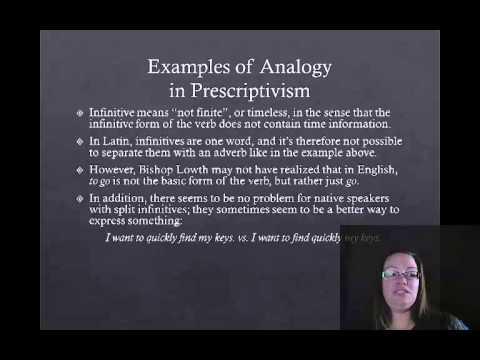 Intro to English Grammar part 2: Historical Prescriptivism