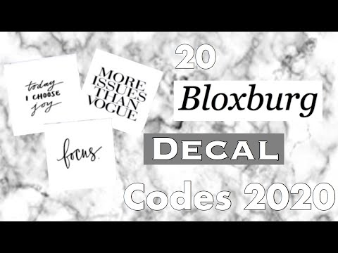 Roblox Bloxburg Aesthetic Decal Codes 2020 Youtube