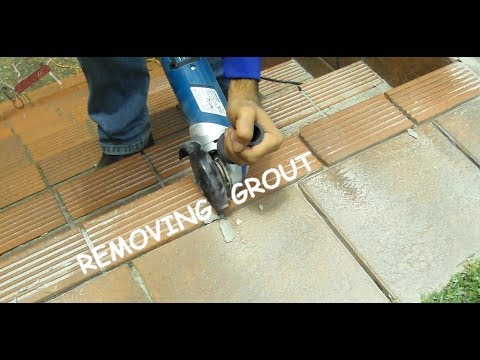 Grout removal  [the MacGyver way]
