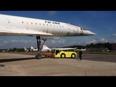 Перекатка Ту-144 RA-77114/Moving Tu-144LL in LII Zhukovskiy