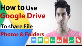 How to use Google drive to share files, photos and folders
