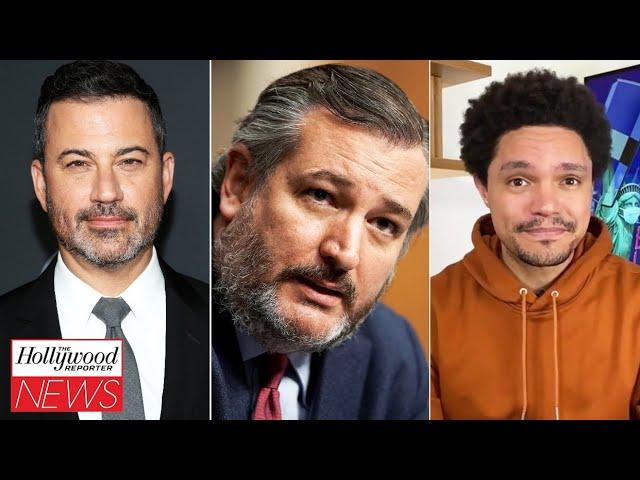 Jimmy Kimmel and Trevor Noah Roast Ted Cruz Over Cancun Trip   THR News