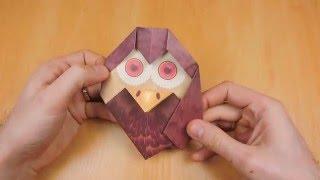 Цветное оригами. Оригами сова. Origami owl.