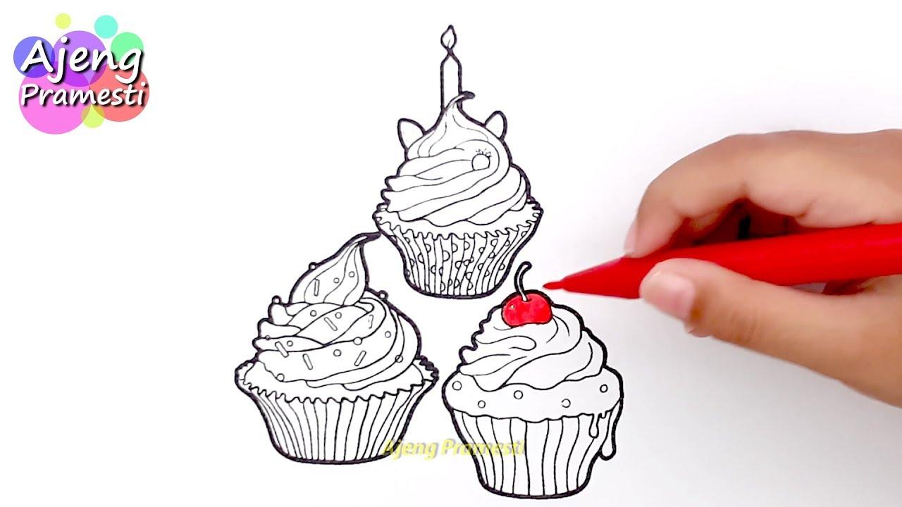 Belajar Mewarnai Gambar Cupcakes