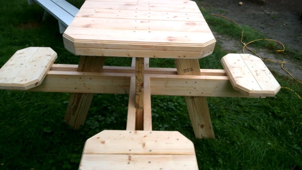 Bar stool picnic table - YouTube