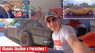 ハコスカで超レア旧車ポルシェと走ってみた!息子と一緒にアメリカのカーミーティングへ! Classic Nissan Skyline & Classic Porches
