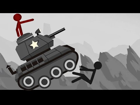 Stickman Destruction Ragdoll Annihilation - TANK Vs STICKMAN #2 | Android Stick Animation Game
