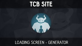tcb site loading screen generator