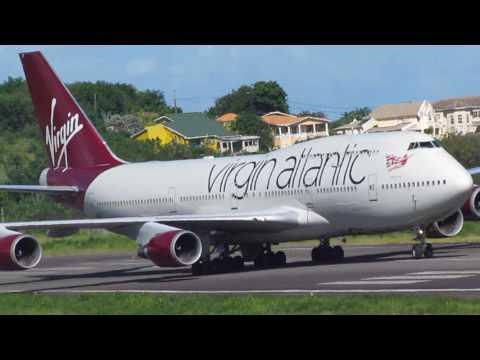 Virgin Atlantic Landing at Grenada