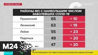 В Подмосковье зарегистрировано почти 500 новых случаев заражения коронавирусом - Москва 24