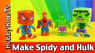 Make Vinyl Spider-Man and Hulk Markers Rose Art Color Blanks Marvel by HobbyKidsTV