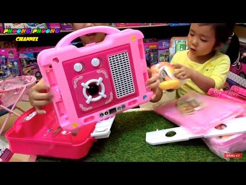 Đồ chơi nấu ăn ❤️ kids pretend fun play cooking food with Kitchen set | dạy cho bé chơi đồ hàng