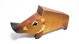 Wild Boar Paper Crafts tutorial !