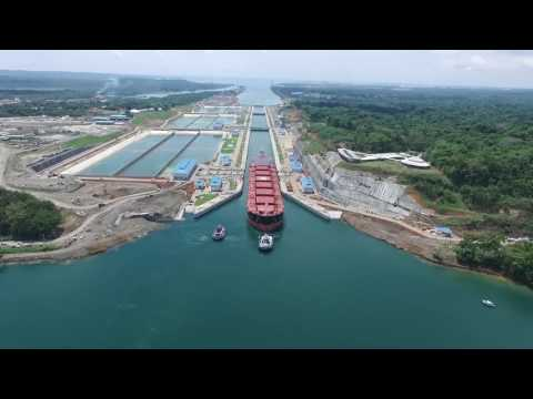 First Trial Transit at Panama Canal Expansion Agua Clara Locks