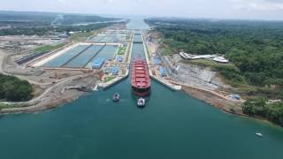 First Trial Transit at Panama Canal Expansion Agua Clara Locks thumbnail
