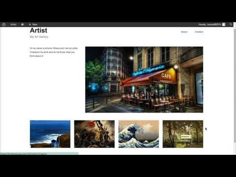 How to Create an Artist Website Using Wordpress
