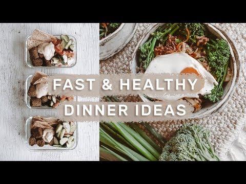 5 FAST & HEALTHY WEEKNIGHT DINNERS // Meal Prep Ideas