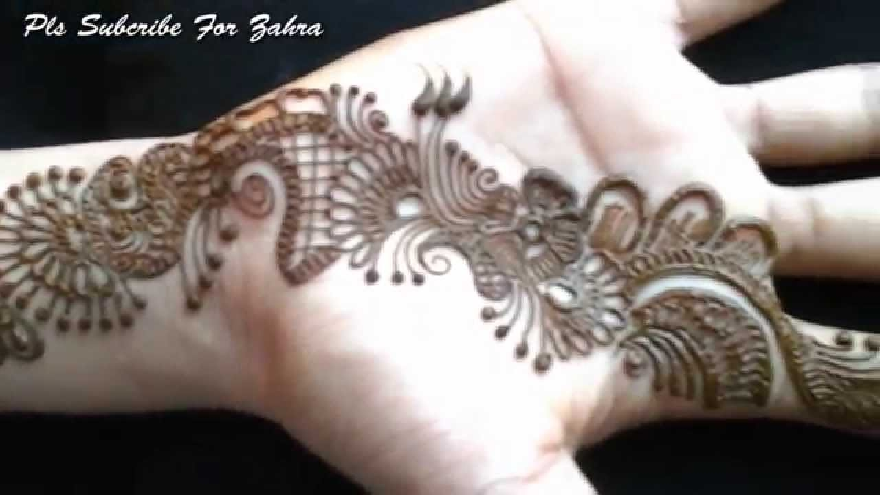 Latest Mehndi Hands : Latest mehandi design front hand video youtube