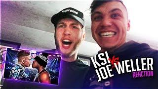 CLOUT HOUSE REACTS TO KSI VS JOE WELLER BOXING MATCH FIGHT (LIVE)