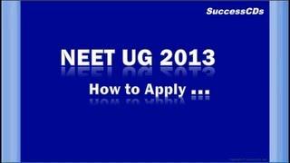 NEET UG 2013 Application Process (in Hindi)