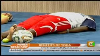 Dr.Seema Sharma and Dr.Rajinder Yoga Instructors at Citizen tv Nairobi,06/10/2015..Nairobi.