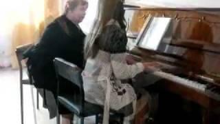 Фрагмент урока фортепиано