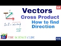 How to find Cross Product and the Direction of vectors #5