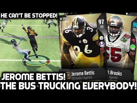 "JEROME BETTIS ""THE BUS"" TRUCKS EVERYBODY! Madden Ultimate Team"
