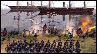 CONFEDERATE WARSHIPS! American Civil War Beach Landing