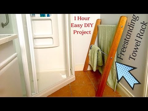 Make a Freestanding Towel Rack / 1 Hour Easy DIY Project