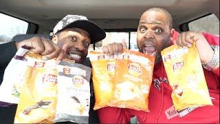 Lays Potato Chip Challenge (Lays Do Us A Flavor VS Battle)