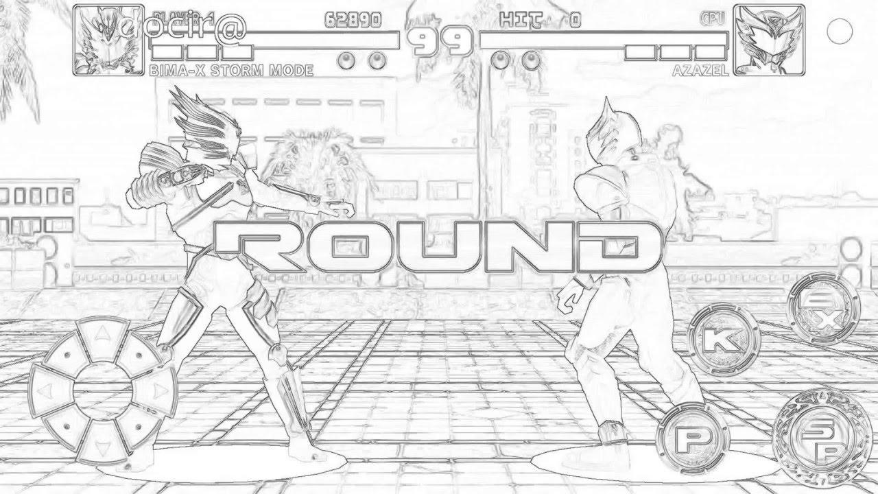 Bima X Gameplay Versi Sketsa Bima X Storm Mode Vs Azazel Youtube