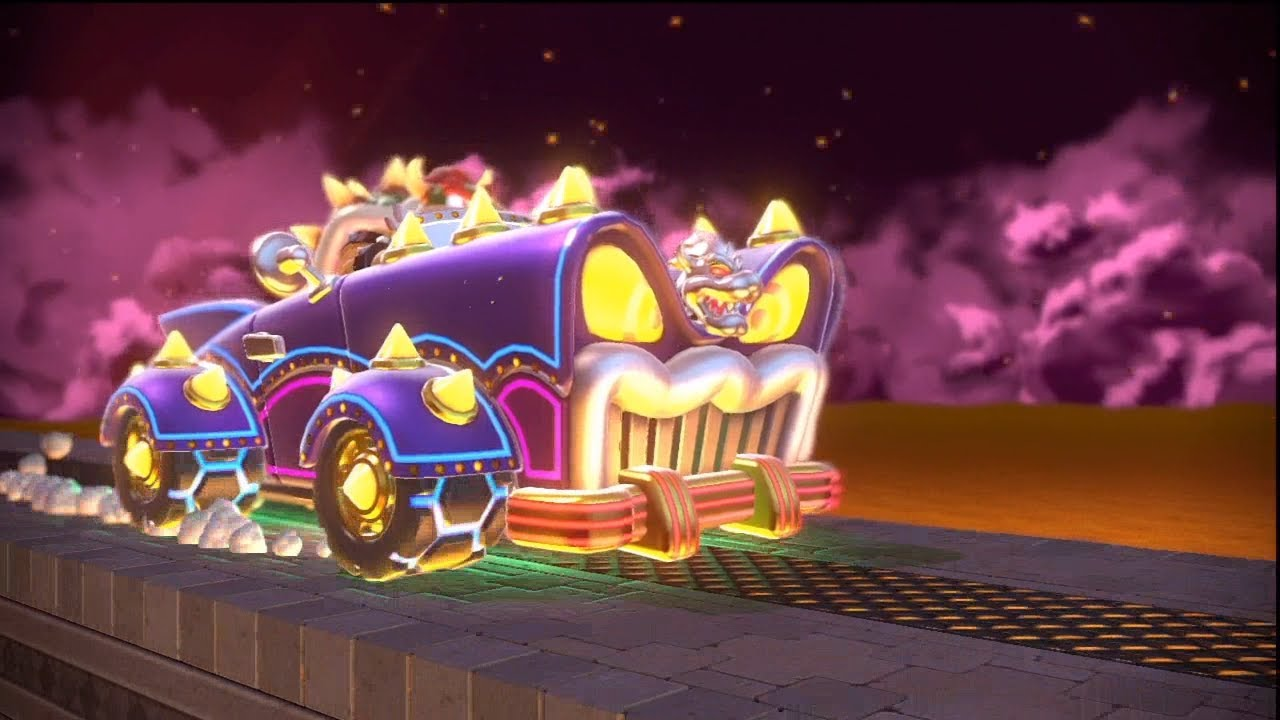 super mario 3d world part 20 bowers neon car of world