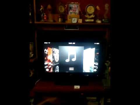 IPod Touch On Touchscreen TV !! (PLAY HD GAMES MOVIES MUSIC)