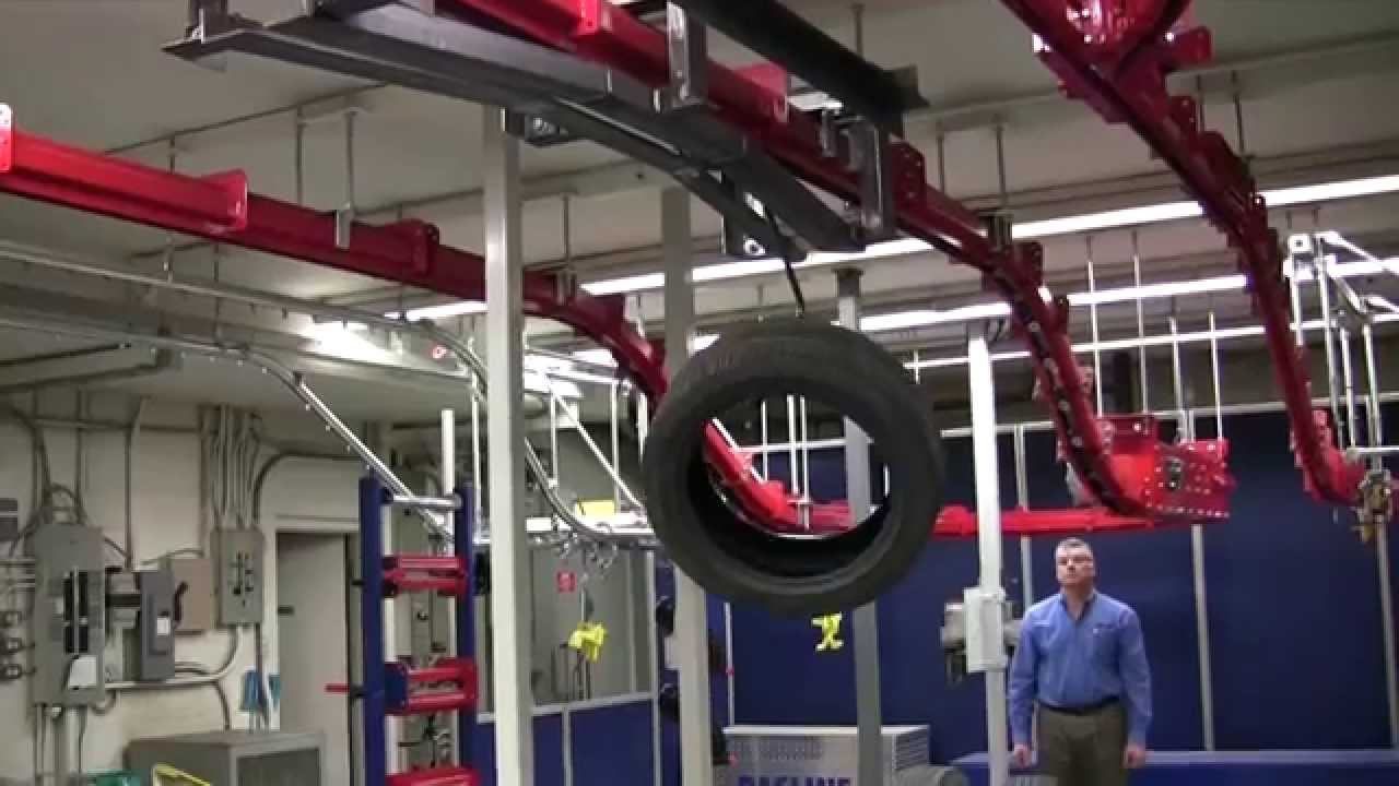 Automatic Tire Dumping Station Test Unit Youtube