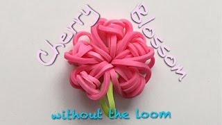 EASY Cherry Blossom Flower Charms WITHOUT Rainbow Loom