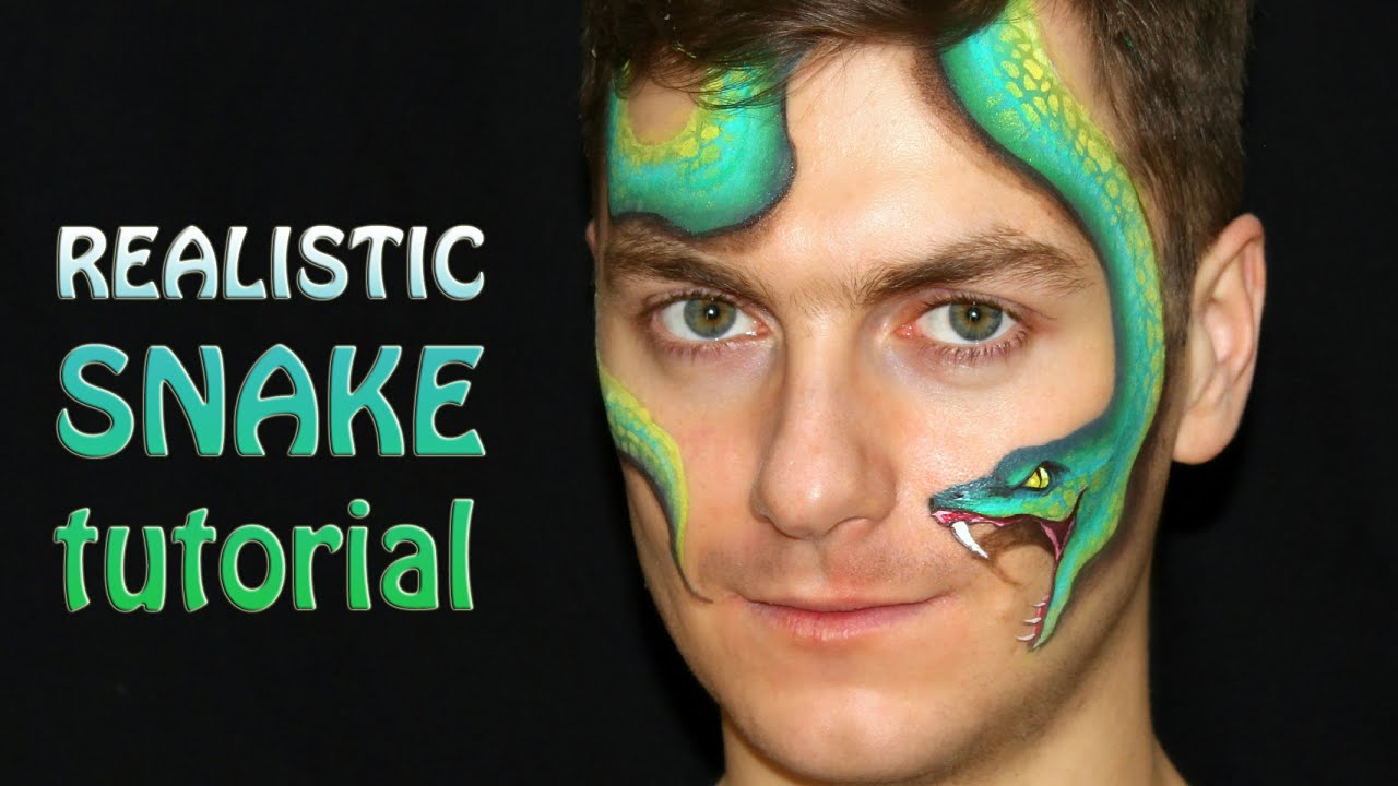 Easy Realistic Snake One Stroke Face Painting Tutorial YouTube