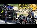 CAIMOS NA BLITZ & Á POLICIA PRENDEU A MOTO DO AMIGO DE MENOR no GTA 5 - VIDA REAL #39