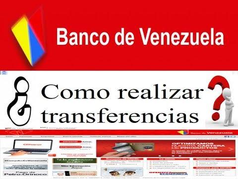 Banco de venezuela como realizar transferencia a terceros for 0banco de venezuela