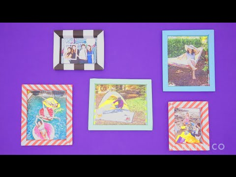 How to Make Paper Picture Frames - YouTube