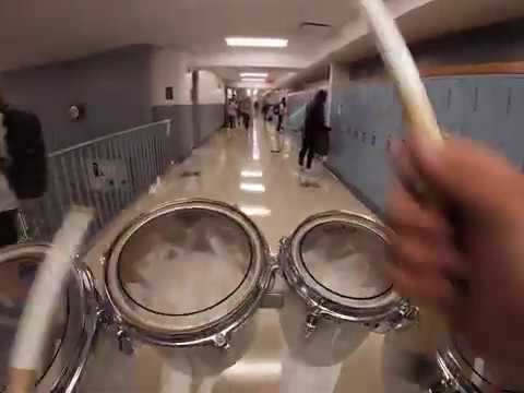 WillowBrook High School Drumline - Tenor Cam - Marching the Halls  - Homecoming Afternoon (9/28/19)