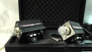 sold tested 2x photogenic power light 1500sl 600 watt second powerlight monolights in case