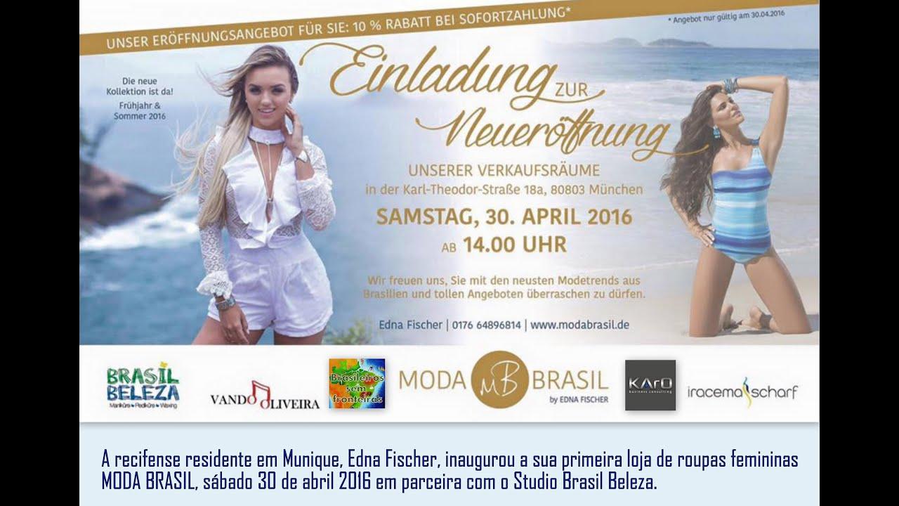 26ae2bcb7 Inauguração de loja brasileira em Munique - YouTube